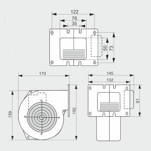 Ventilator Centrala termica/Cazan 155mc/ora, 41W - WPA109