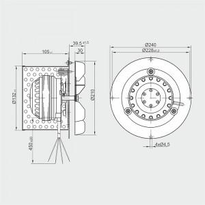 Ventilator Centrala termica/ Cazan - 550mc/ora, 100W - R2E 210-AA34-05