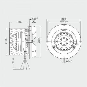 Ventilator Centrala termica/Cazan - 610mc/ora, 120W - R2E 210-AB34-05