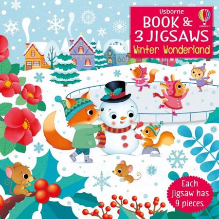 Carte cu 3 puzzle-uri, Winter Wonderland, Usborne, 3+