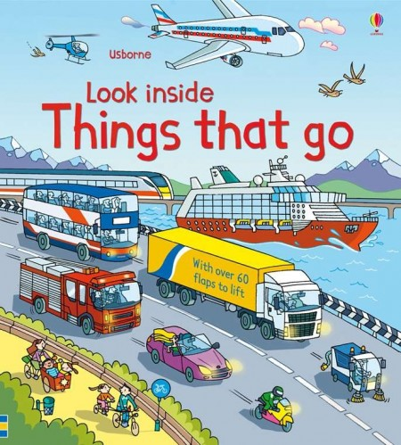 Carte cu multe clapete pentru copii curiosi, Look inside things that go