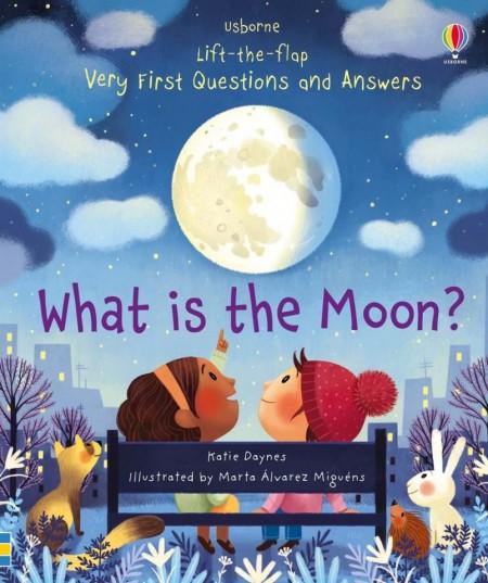 Carte cu multe clapete pentru copii curiosi, What is the moon?, Usborne