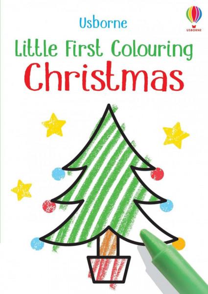 Carte de colorat, Little First Colouring Christmas, Usborne