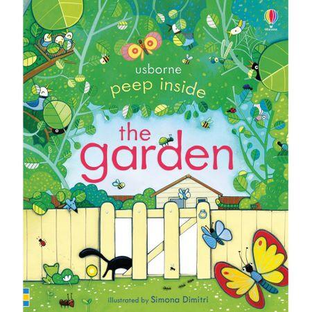 """Carte """"Peep inside the garden"""", 3 ani+, Usborne"""