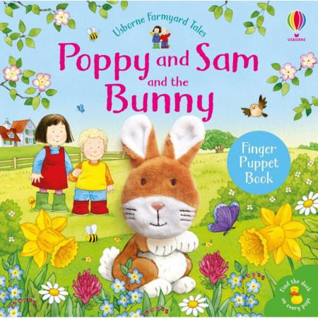 "Carte ""Poppy and Sam and the Bunny"", cu pagini cartonate, 1 an +, Usborne"