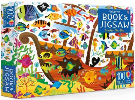 Carte și puzzle, Under the sea puzzle book and jigsaw, usborne