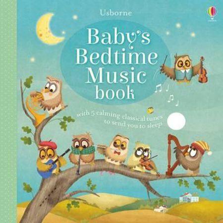 Carte sonora pentru bebelusi, Baby's Bedtime Music Book, Usborne