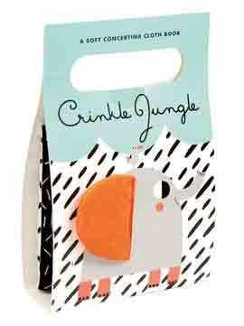 Carte textila pentru bebelusi, Crinkle Jungle book, Concertina