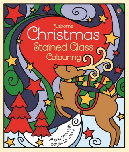 Christmas stained glass colouring, Usborne