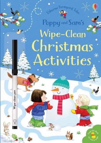 Wipe-clean Poppy and Sam's christmas activities, carte de tip scrie și șterge, usborne