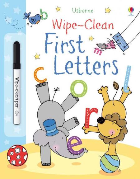 Carte de tip scrie și șterge la nesfârșit, Wipe-clean first letters