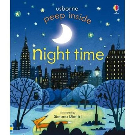 """Carte """"Peep inside Night-Time"""", 3 ani+, Usborne"""