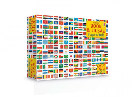 Carte si puzzle, Flags of the World Book and Jigsaw, Usborne