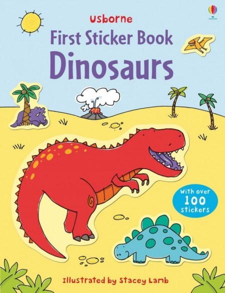 First sticker book dinosaurs, usborne