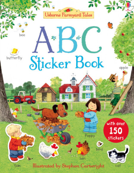 Abc, Poppy and Sam's first sticker book, 3+, usborne