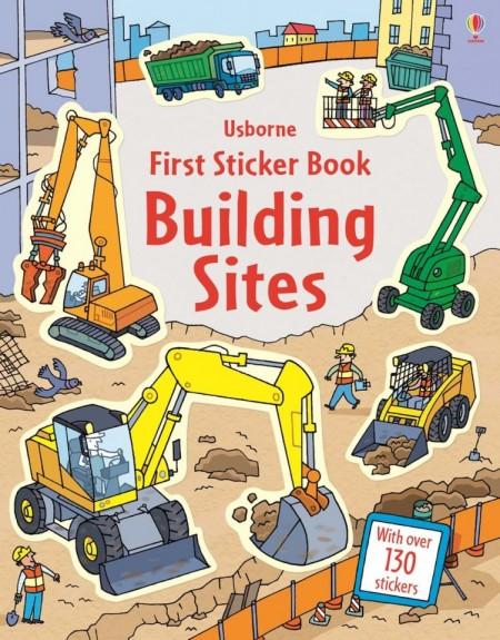 Building sites first sticker book