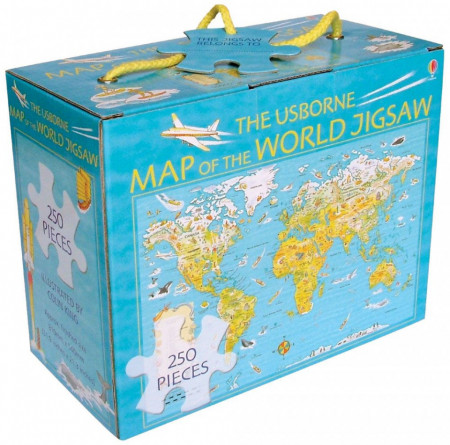 Carte si puzzle, Map of the World Jigsaw, Usborne