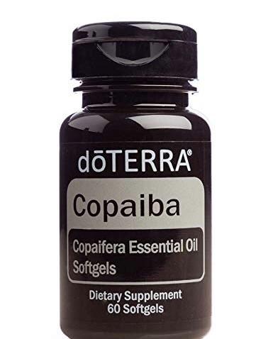 Copaiba softgels, capsule pentru sistemul nervos, cardiovascular, imunitar, digestiv si respirator, Doterra