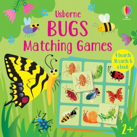 Joc educativ, Bugs Matching Games, Usborne, 2+