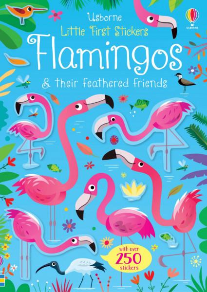 Little First Stickers Flamingos, 3+, Usborne