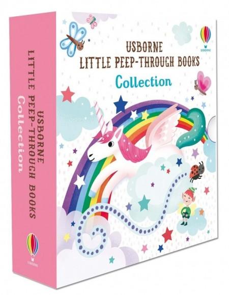 Little peep-through collection, set de 3 carti senzoriale pentru copii, usborne