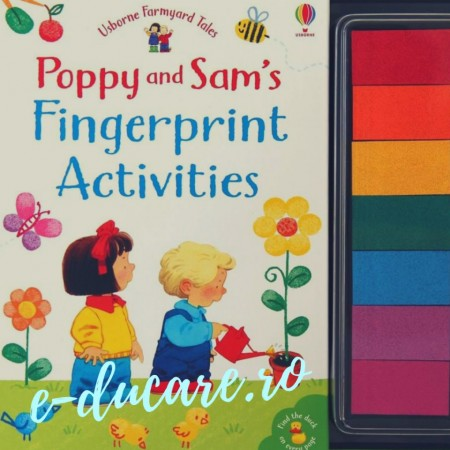 Poppy and Sam's fingerprint activities, carte de pictat cu degetele, USBORNE