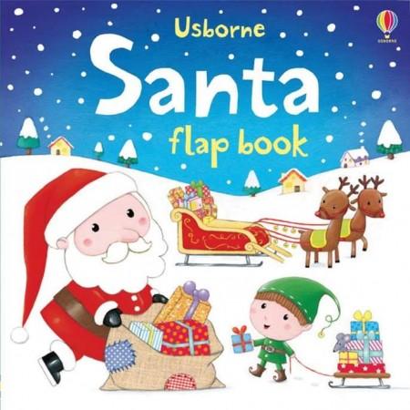 Santa flap book, christmas, usborne