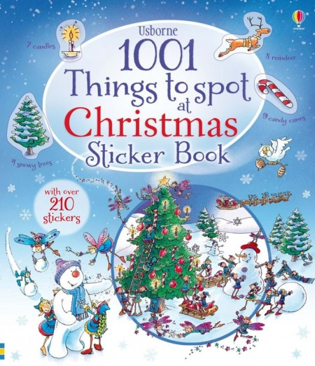1001 things to spot at Christmas sticker book, usborne