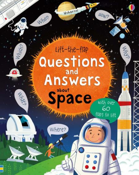 Carte cu multe clapete pentru copii curiosi, Lift-the-flap questions and answers about space