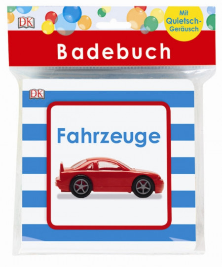 Carte de baie cu insertii sonore, cu autovehicule, badebuch Fahrzeuge, dk, 6+