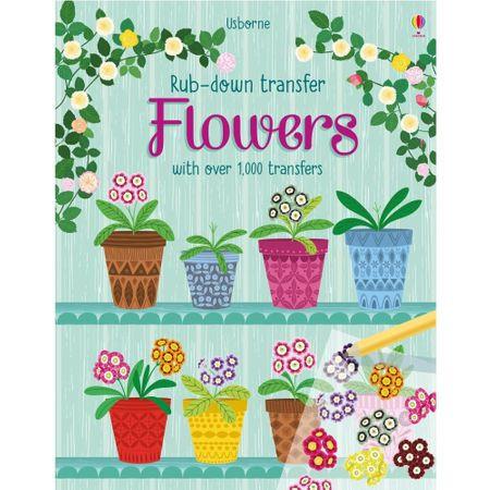 """Carte """"Flowers"""", cu coperta tare, 5 ani+, Usborne"""