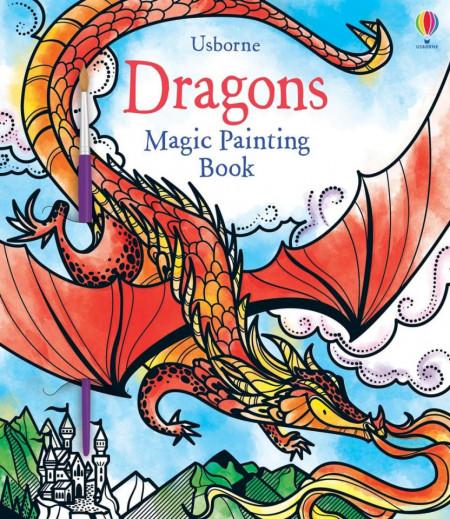 Carte magica de pictat doar cu apa, Magic Painting Dragons, Usborne 3+