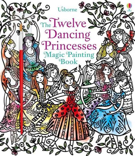 Carte magica de pictat doar cu apa, Magic painting the twelve dancing princesses