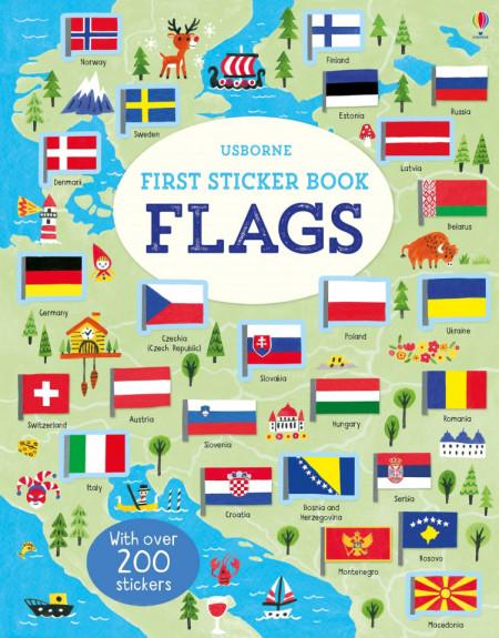 First Sticker Book Flags, 3+, Usborne