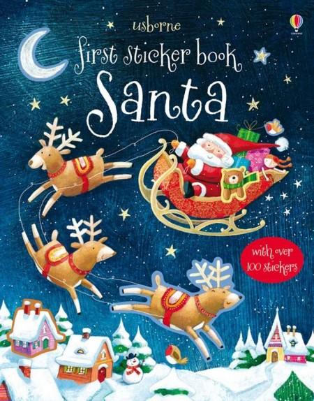 First sticker book santa