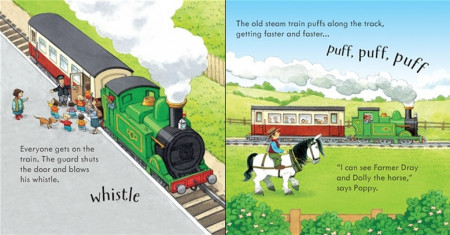 Poppy and Sam's Noisy train, Usborne