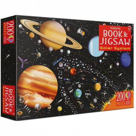 """Set Puzzle """"The solar system book and jigsaw"""", 6 ani+, Usborne"""