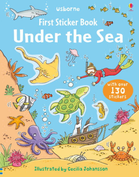 Under the sea sticker book, 3+, Usborne