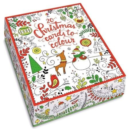 20 christmas cards to colour, 20 felicitari de pictat, usborne