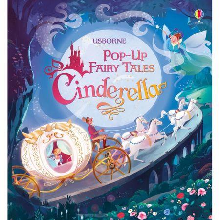 """Carte """"Cinderella"""", cu pagini cartonate , 3 ani+, Usborne"""