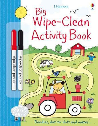 Carte de tip scrie și șterge la nesfârșit Big wipe-clean activity book