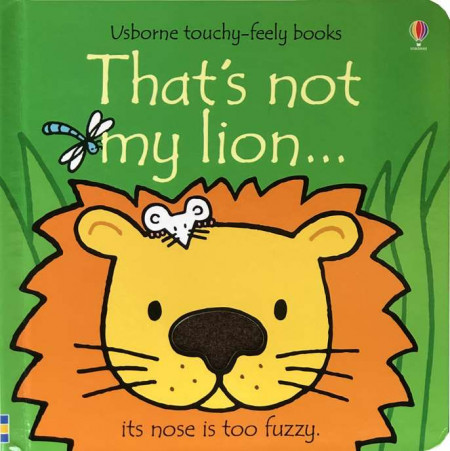 Carte senzorială, That's not my Lion, usborne