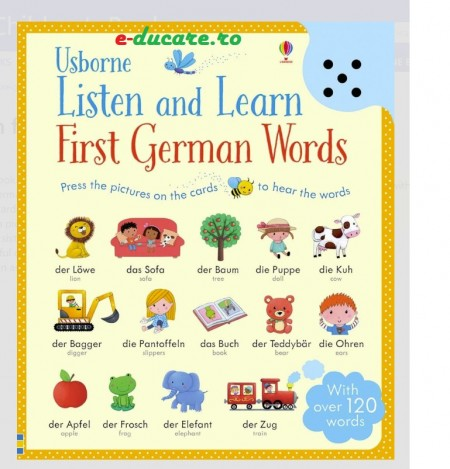 Carte Usborne Listen and learn first German words