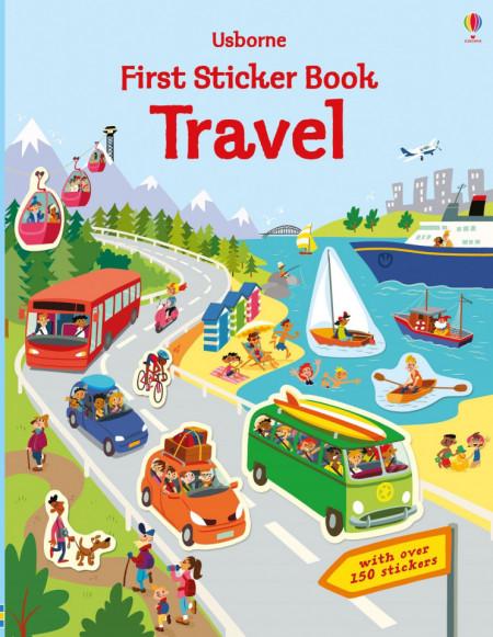 First Sticker Book Travel, 3+, Usborne
