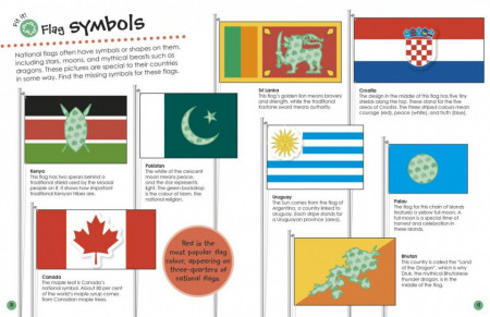 Flags Around the World Ultimate Sticker Book, DORLING KINDERSLEY CHILDREN'S