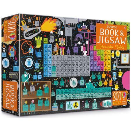 "Set Puzzle ""Periodic table picture book and jigsaw"" de Sam Smith, 7 ani+, Usborne"