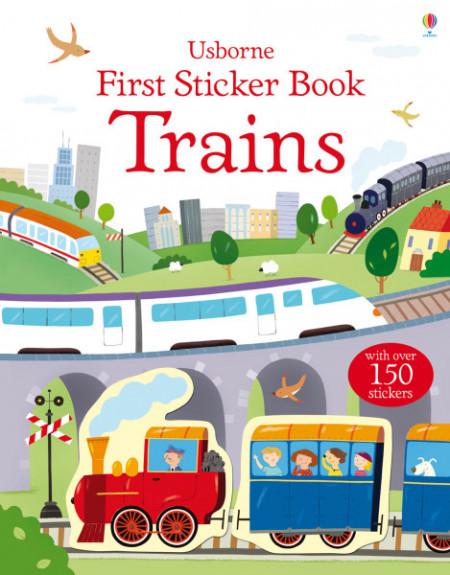 Trains first sticker book, Usborne