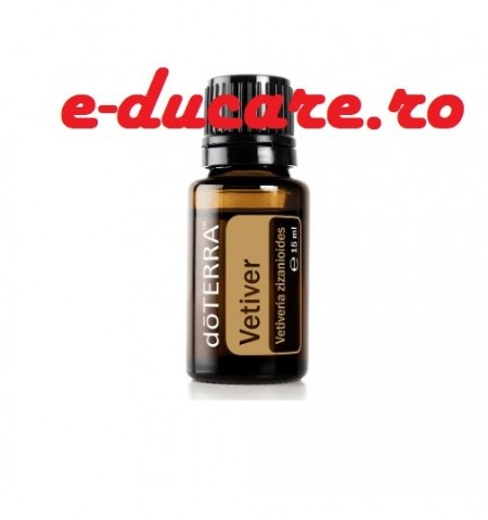 Ulei esential Vetiver, Vetiveria zizanioides, 15ml, pentru concentrare, somn, echilibrare, calmare, varice, antiartritic, antireumatic, sprijina sistemul imunitar si endocrin, Doterra