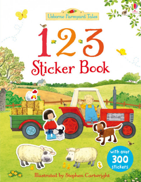 123, sticker book, 3+, Usborne