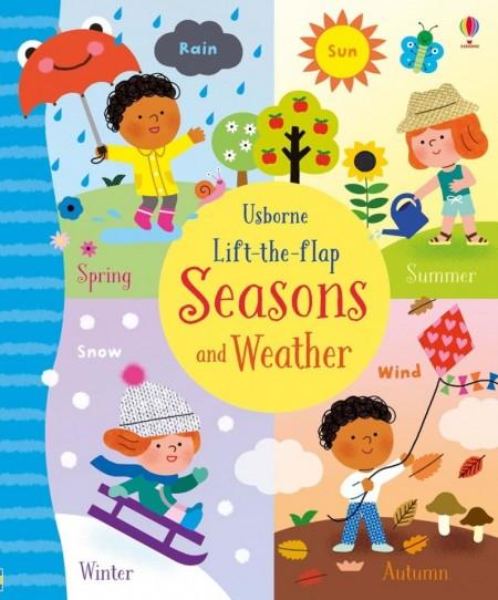 Carte cu multe clapete pentru copii curiosi, Lift-the-flap seasons and weather, Usborne